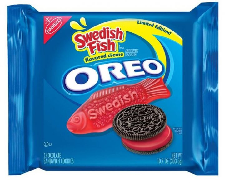 "Have you ever wished your favorite cookie would morph with your favorite chewy candy? Neither did we, but hey, that didn't stop Oreo.  A spokesperson for Nabisco confirmed to PEOPLE on Wednesday that Swedish Fish Oreos are in fact a very real thing. The only catch is the limited-edition pack is available exclusively at Kroger, an Ohio-based supermarket chain.  RELATED: The New Oreo Flavor Is the Cookie Mashup You've Been Waiting For  The new cookie maintains its traditional crunchy, chocolate wafers but the flavored crème is where the Swedish Fish taste comes in. The bright red frosting is described ""sticky, chewy"" and even ""slimy"" by the food blog, The Impulsive Buy, who got their hands on a pack. And unlike some of the other crazy Oreo flavors Nabisco has rolled out, this one actually tastes just as you'd imagine it would."