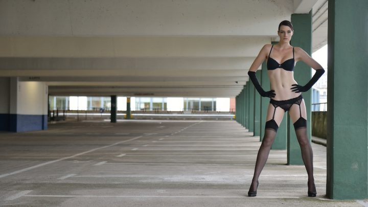 black undies in a parking garage.jpg