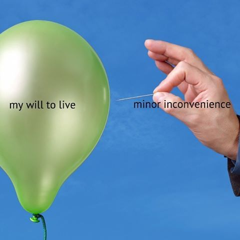 my will to live vs minor inconvenience.jpg
