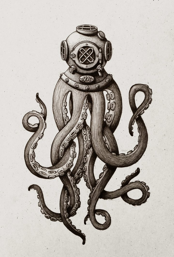 Diving Helmet Tentacles