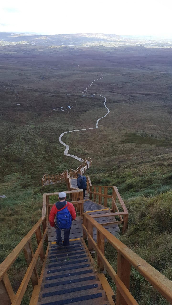 Stairway to heaven. Culcaigh Mountain, Fermanagh, N. Ireland