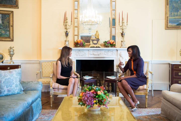 First Lady Michelle Obama meets with Melania Trump.jpg