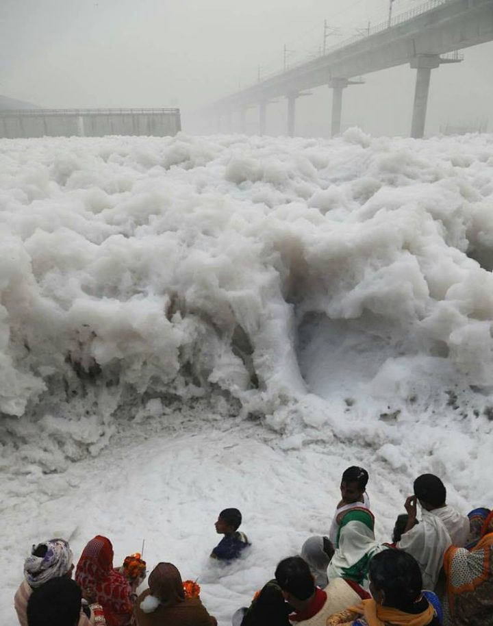 Toxic Foam in Yamuna River + Smog in the Sky.jpg