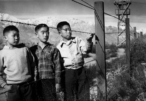 Children in the Manzanar internment camp in California. (AP/National Park Service)