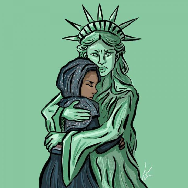 Liberty Embraces Refugee