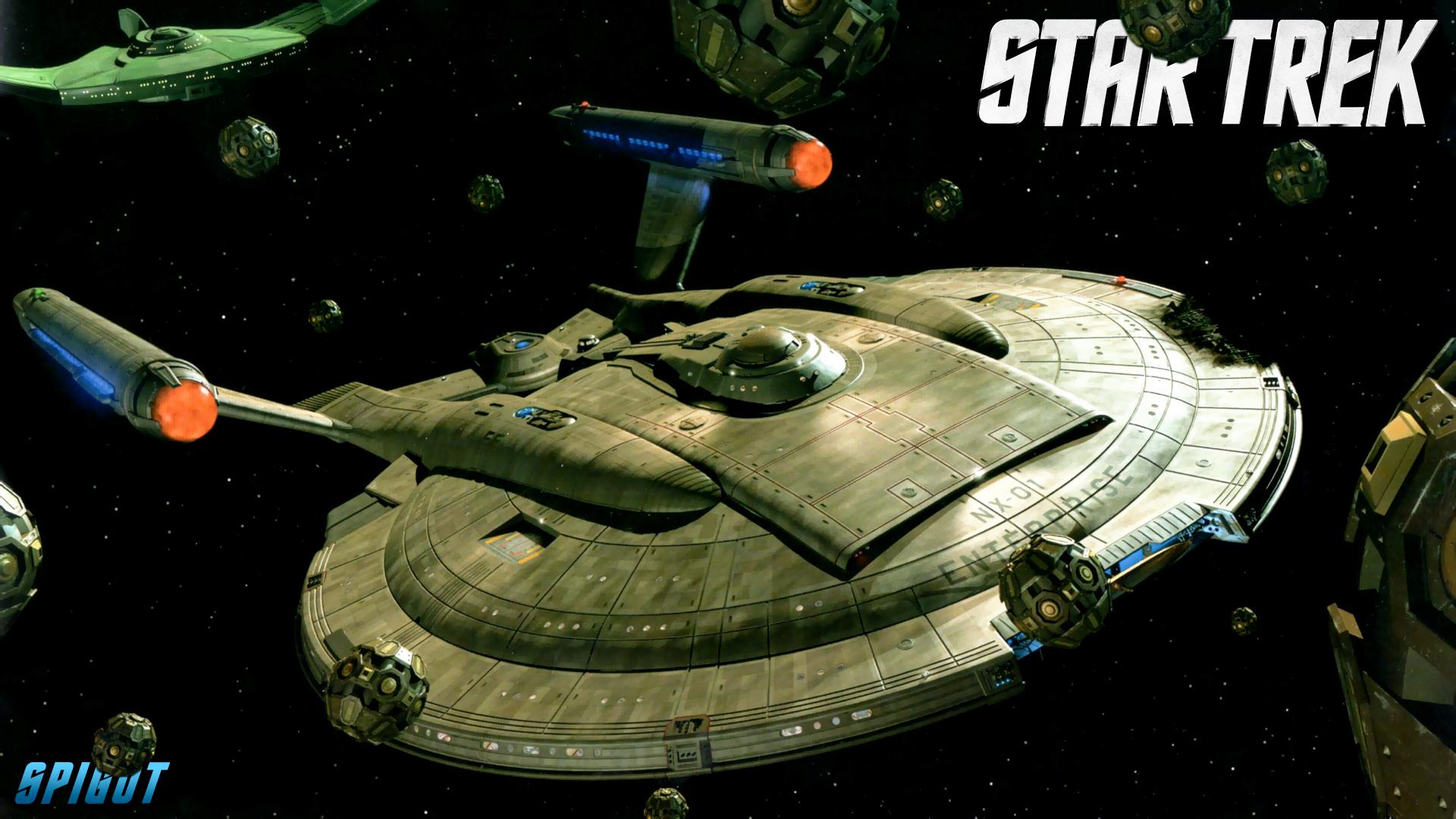 star Trek Enterprise in space with space balls.jpg
