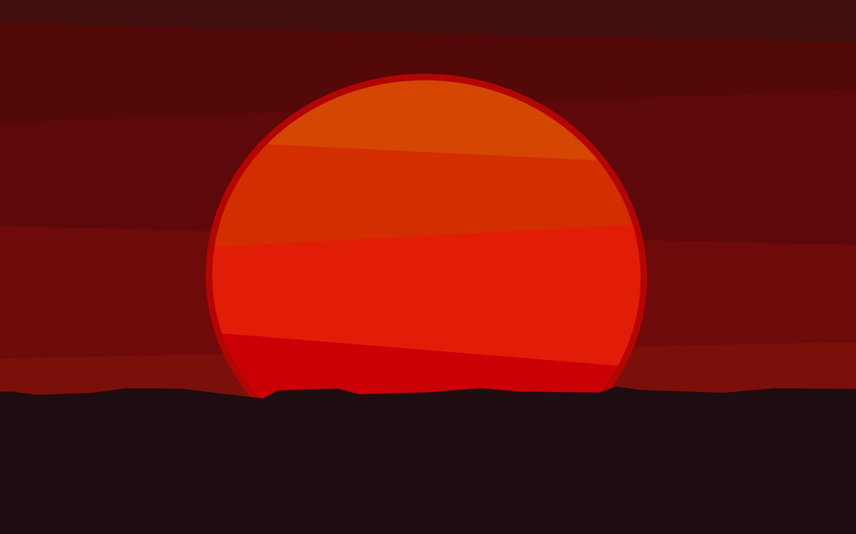 A Red Sun Sets