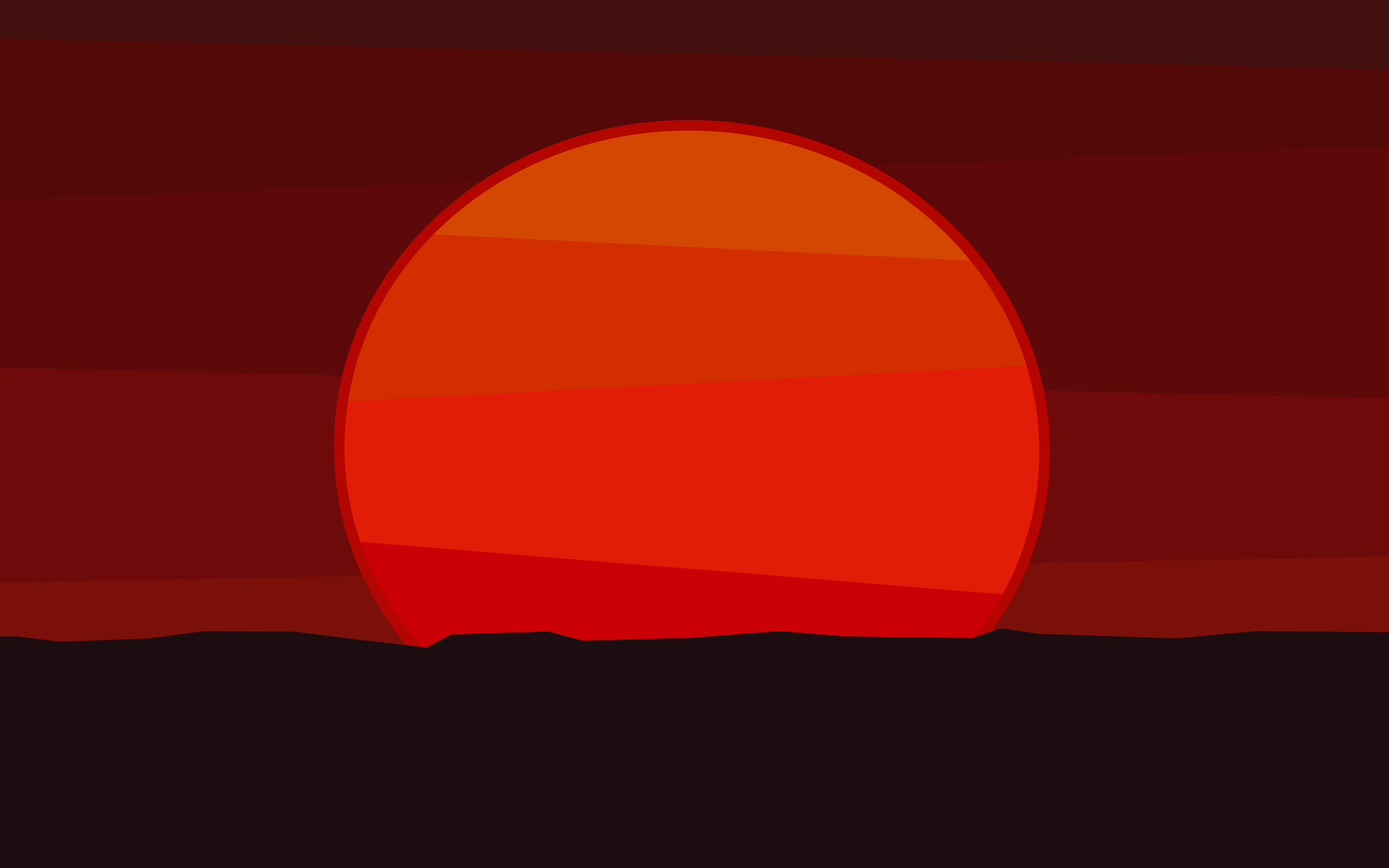 A Red Sun Sets