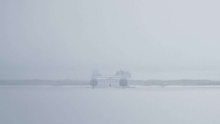 A house in the snow from The Girl with the Dragon Tattoo