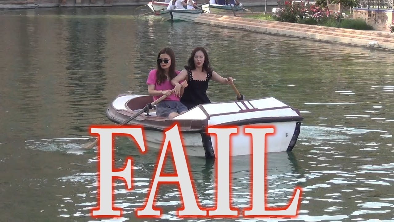 two girls one boat � stupid people try not to laugh � epic