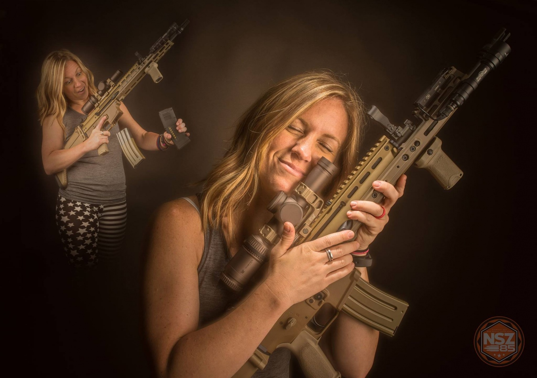 She loves her rifle