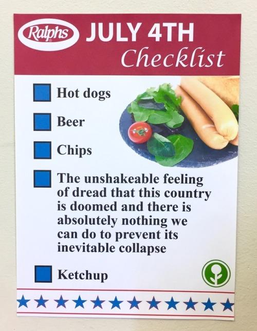July 4th Checklist