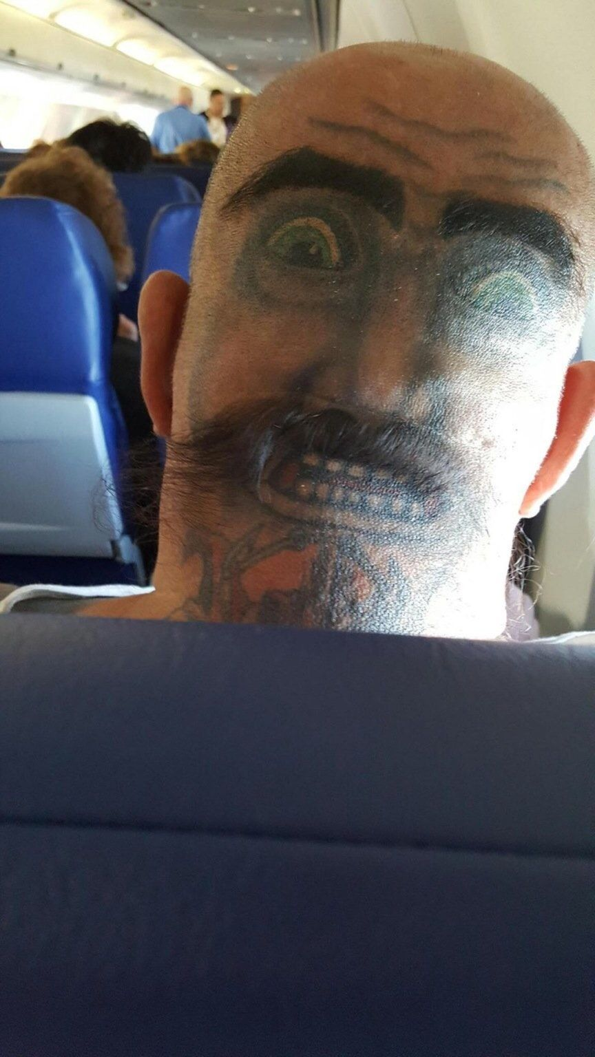 Face tattoo myconfinedspace for Two faced tattoo