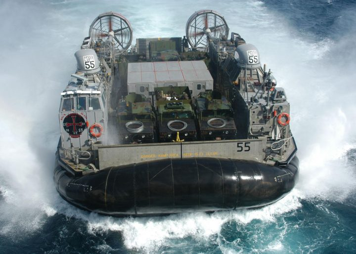 LCAC-55 a Navy Landing Craft Air Cushion LCAC