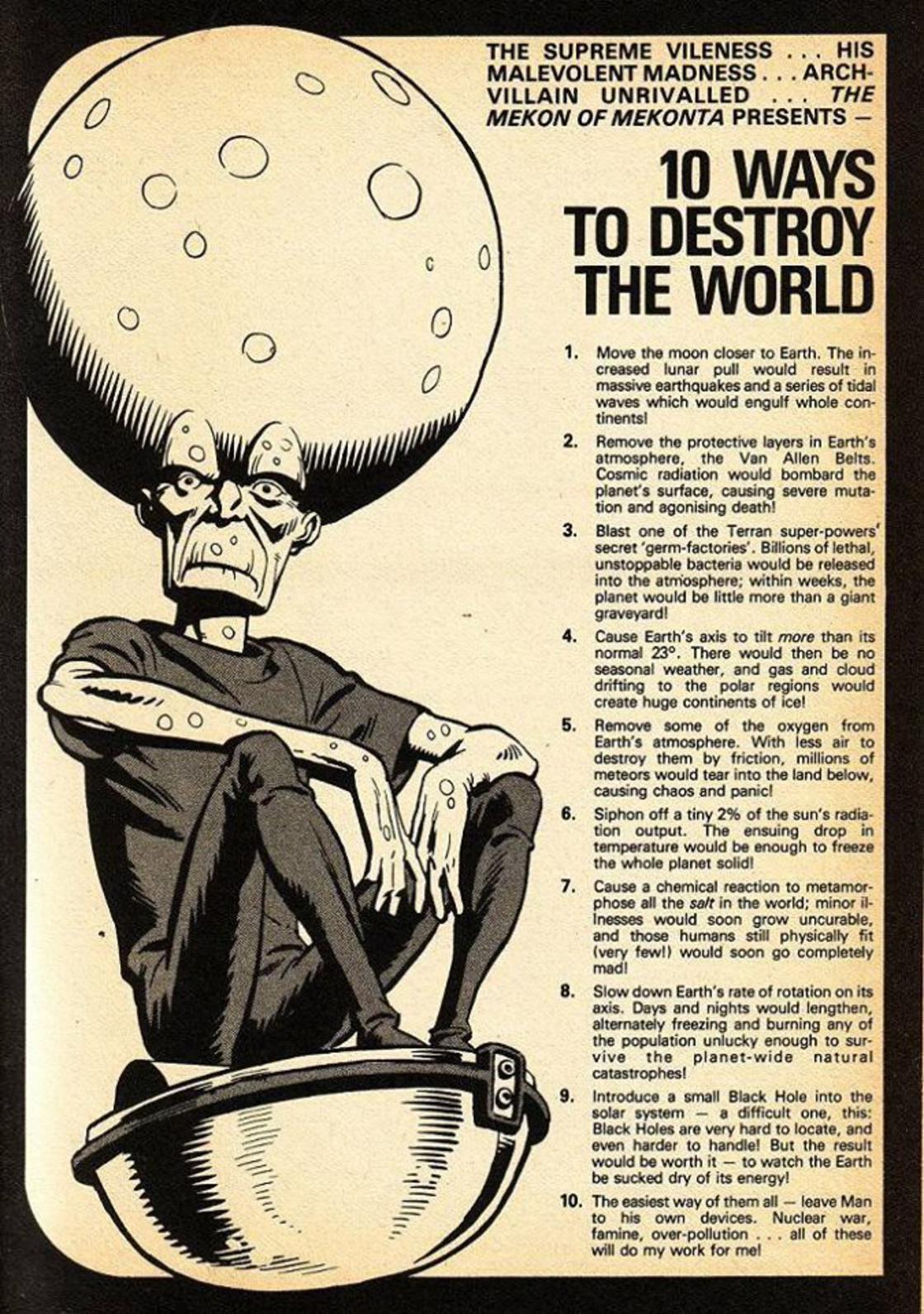 10 Ways to Destroy The World