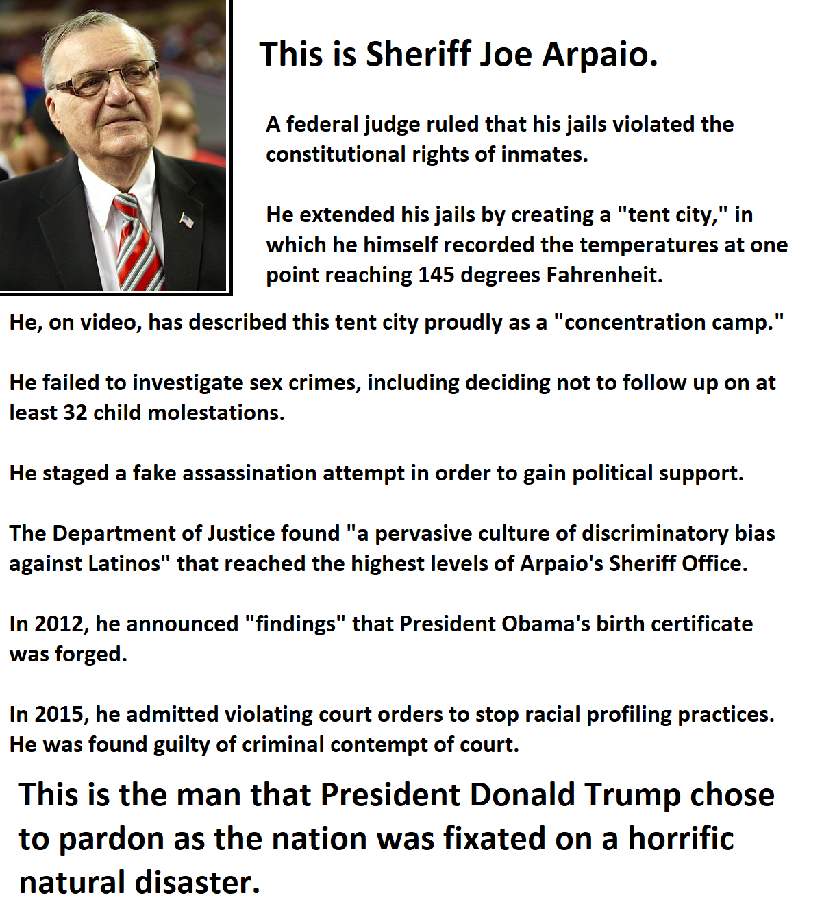 This is Sheriff Joe Arpaio