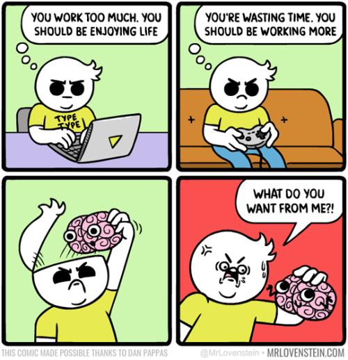 Conflicted Brain
