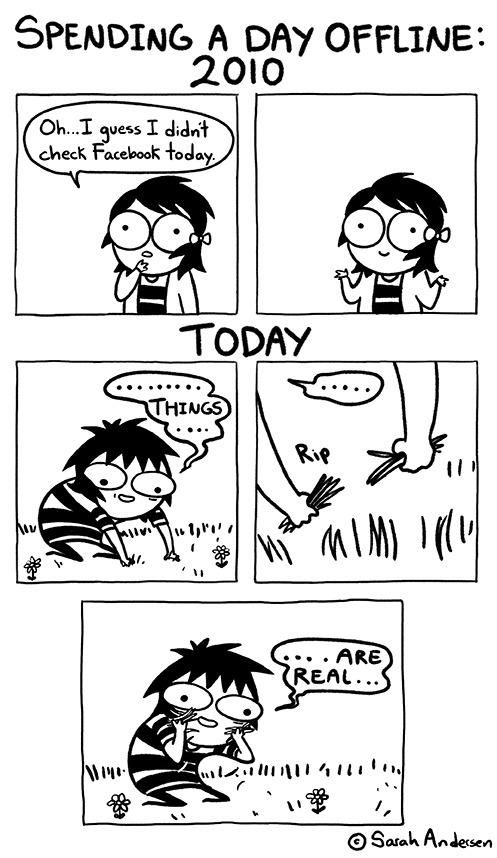 spending a day offline