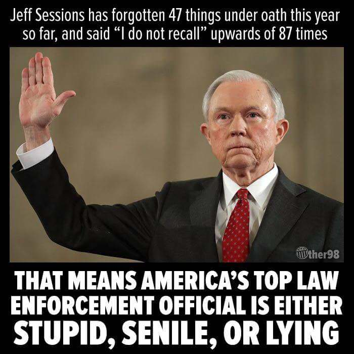 Jeff Sessions has an issue with memory still