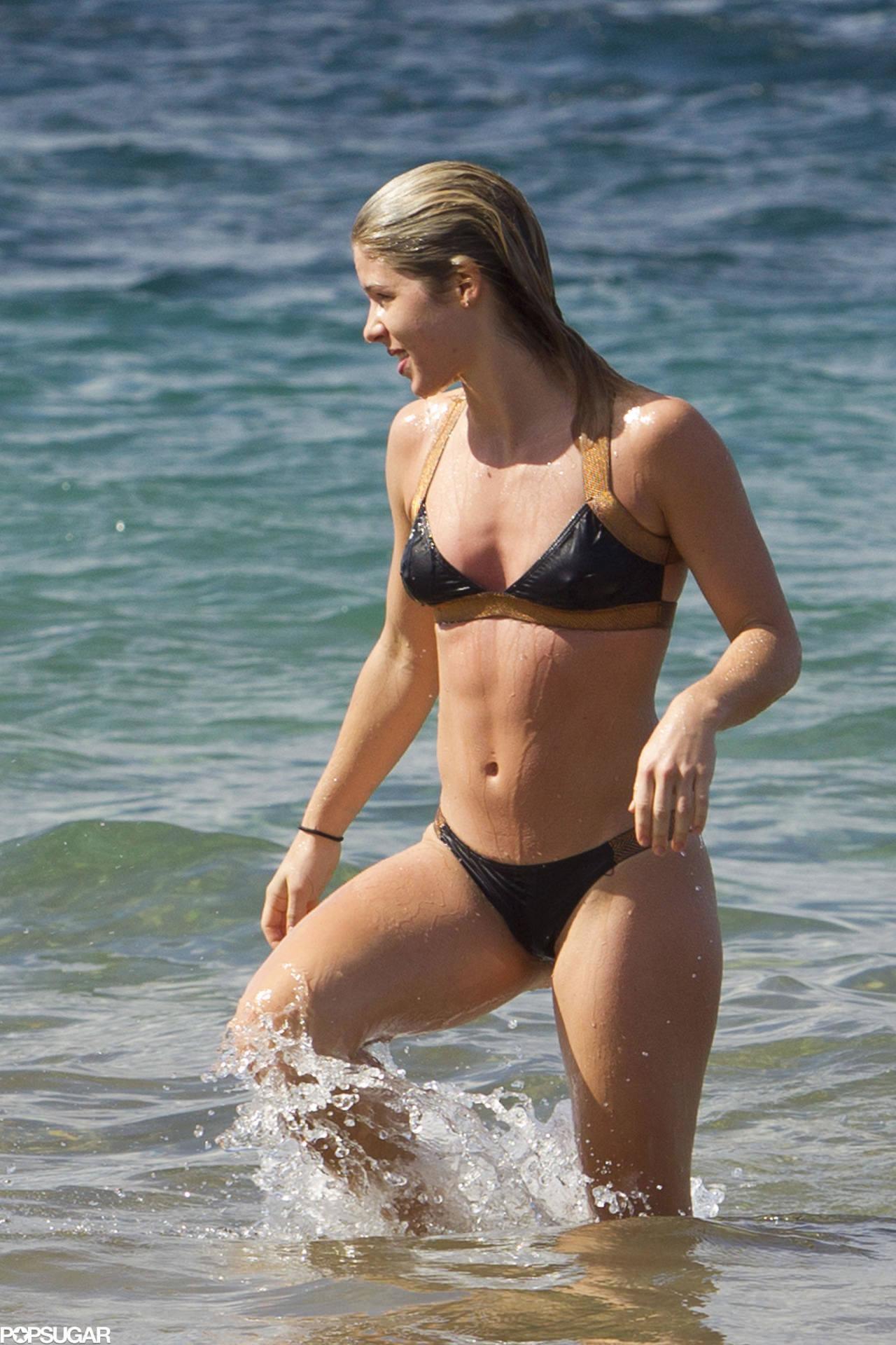 Emily Bett Rickards in a nice bikini