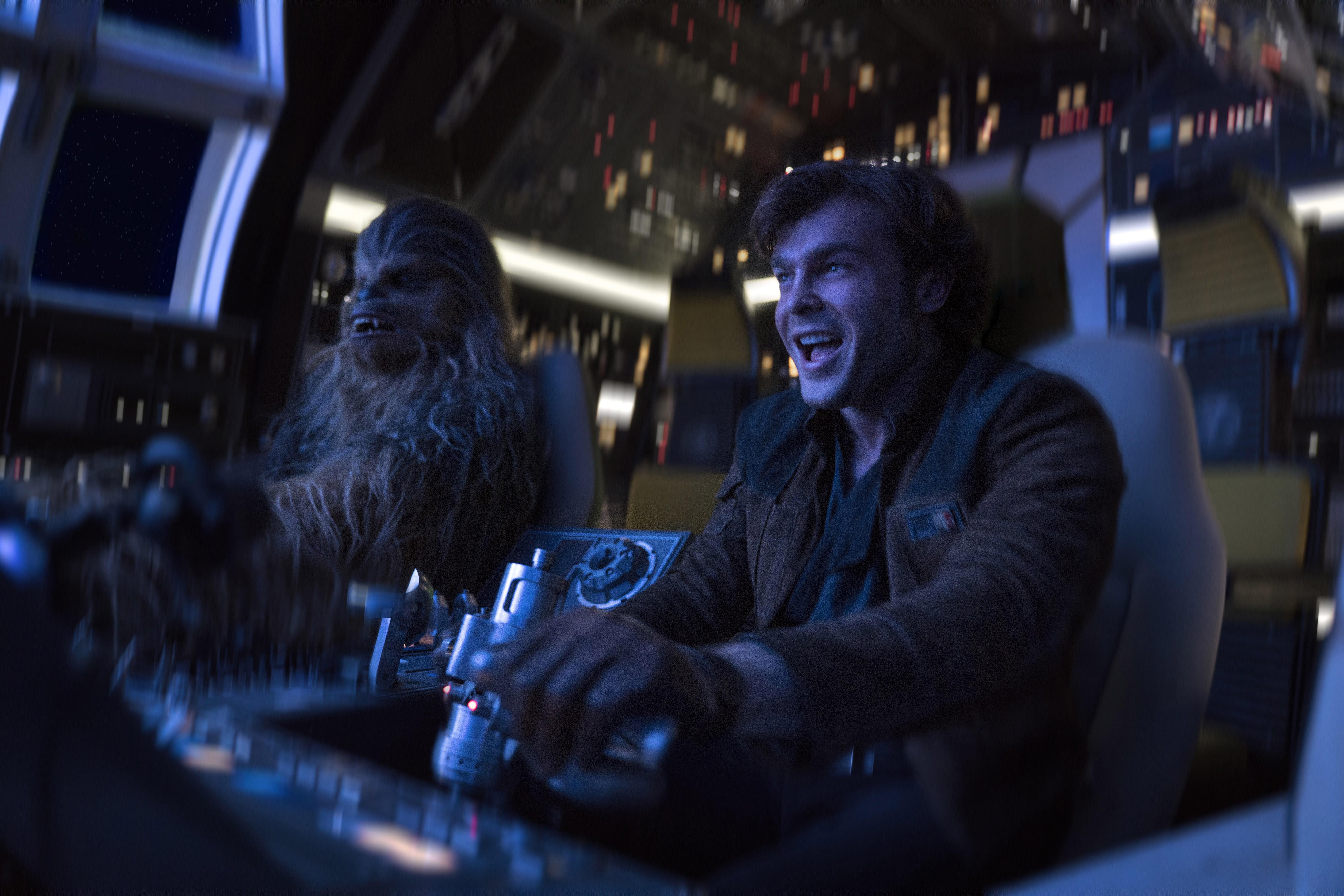 Han Solo And Chewie stealing a ship