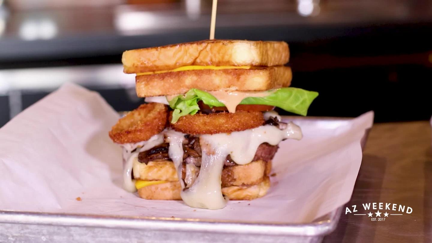 Grilled Cheese Sandwich Burger