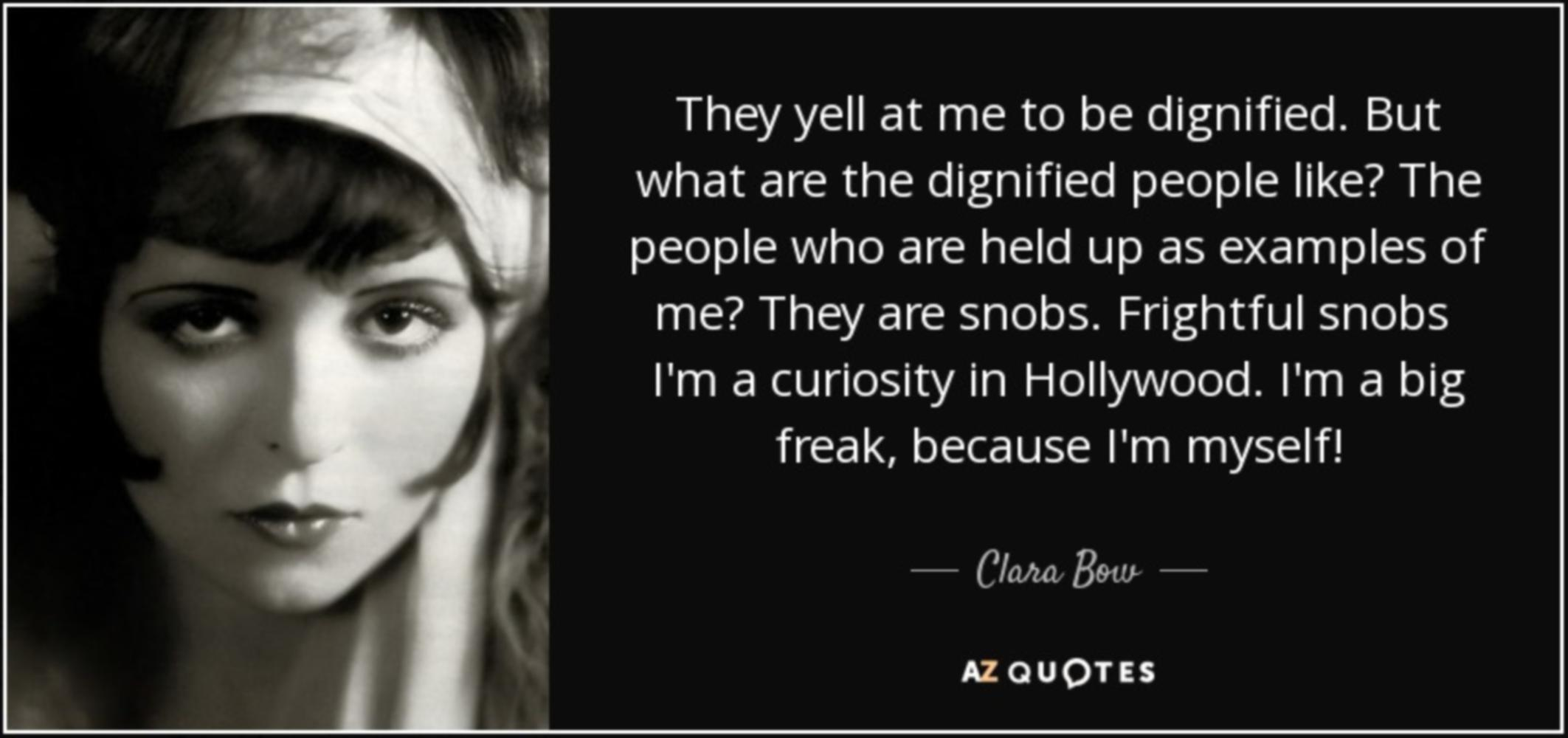 Clara Bow is Undignified