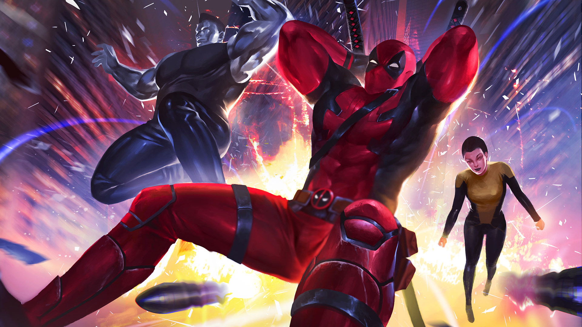 Deadpool with his friends