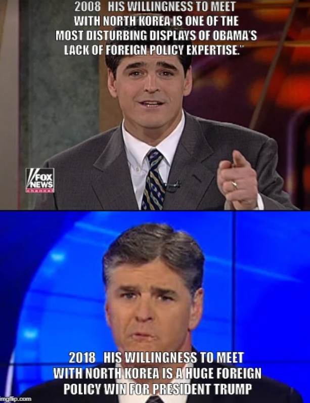 Hannity has changed his mind