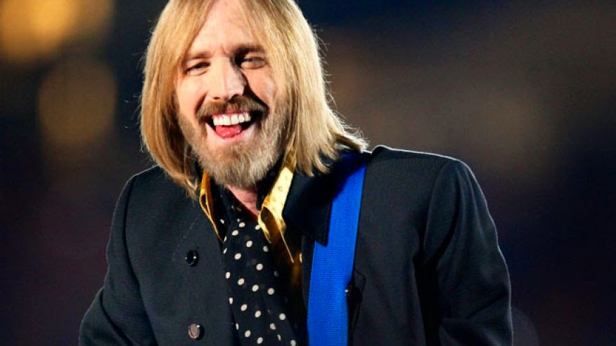 Tom Petty with his tongue