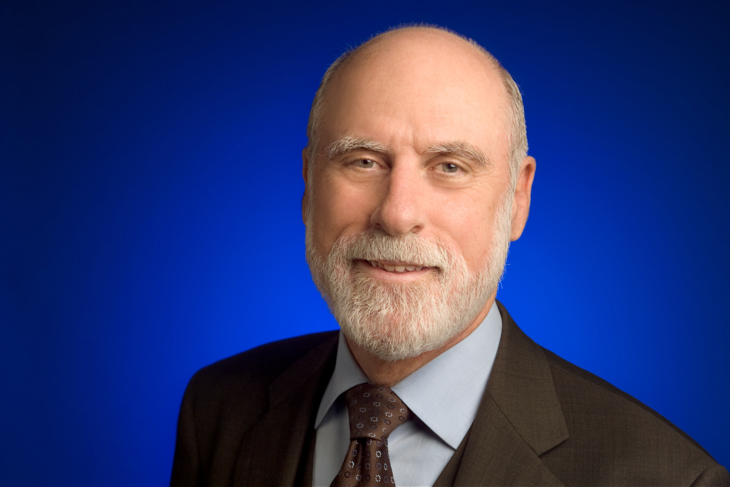 Vint Cerf has a small smile
