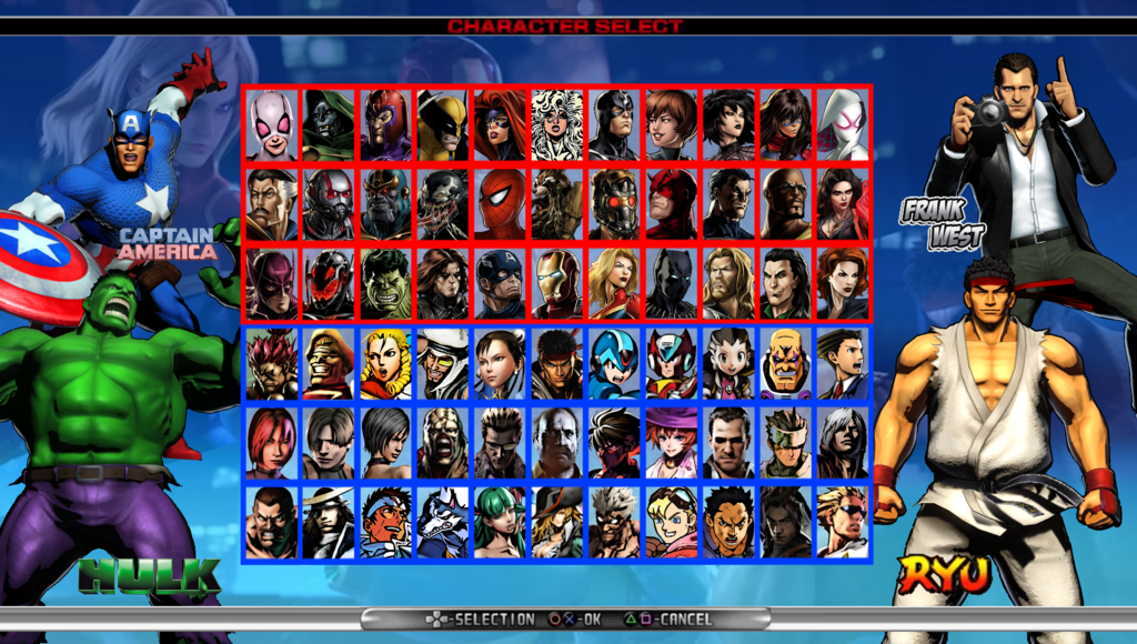 "Marvel Vs Capcom Infinite"" character select « MyConfinedSpace"