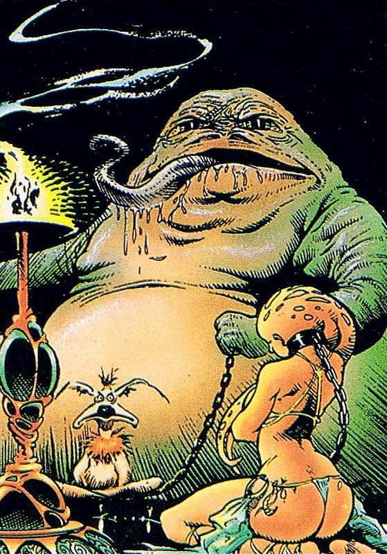 Jabba is a disgusting mess