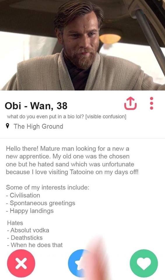 Obiwan Tinder Profile