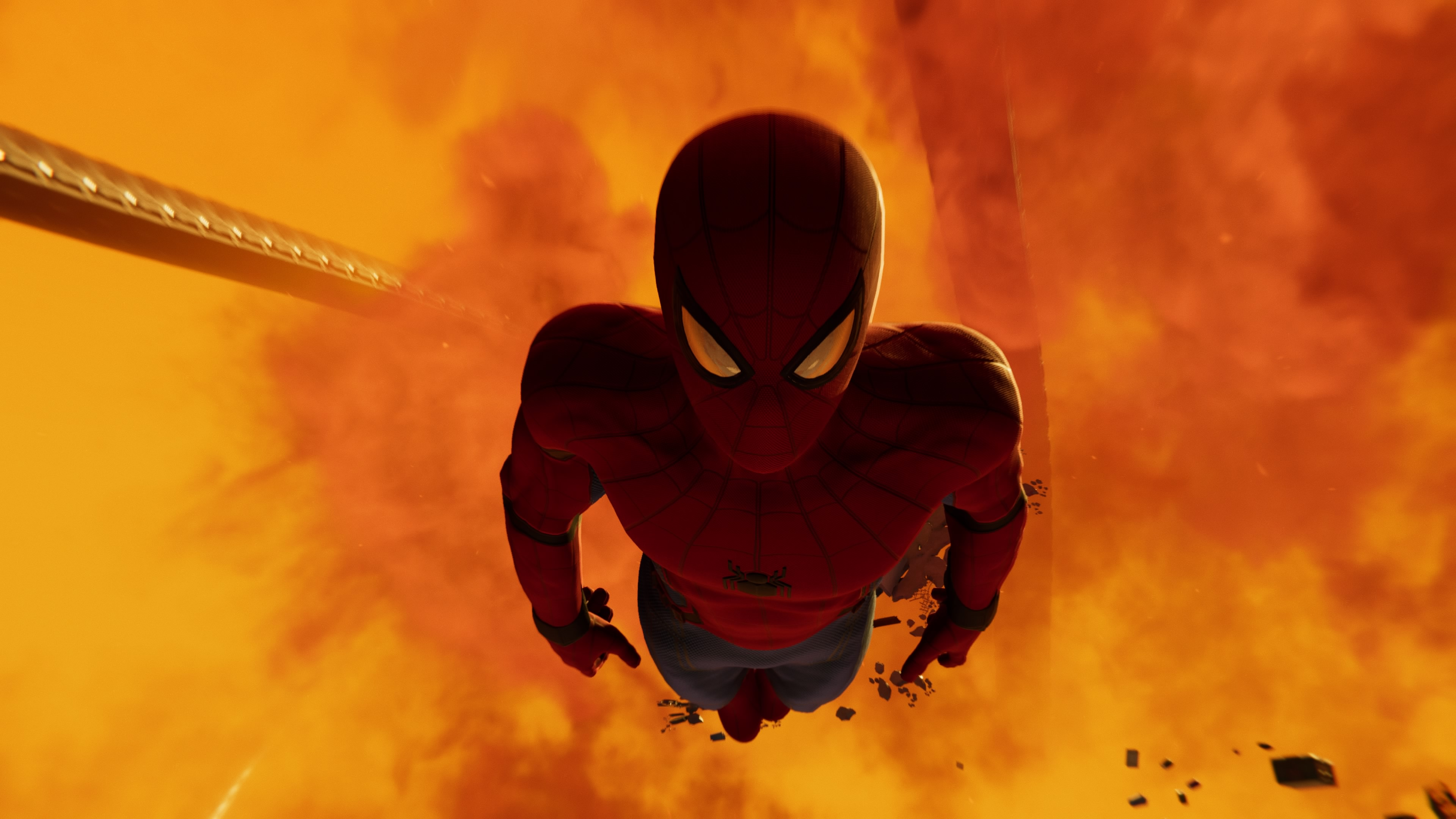 Spider-man falls into fire.jpg
