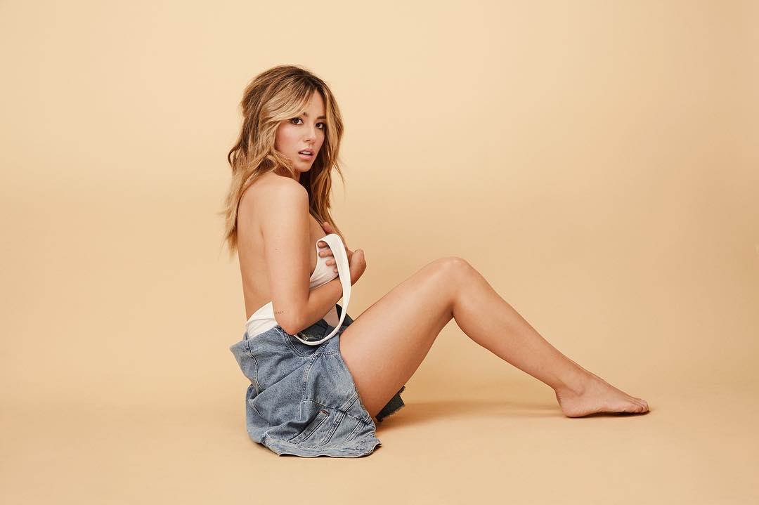 Chloe Bennet on the floor