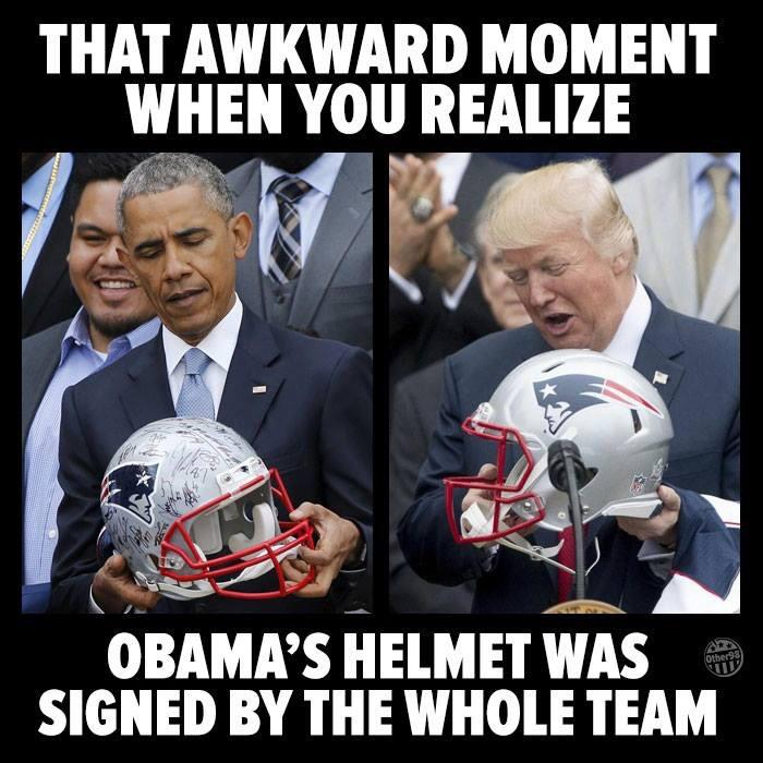 obama's helmet is better than trumps