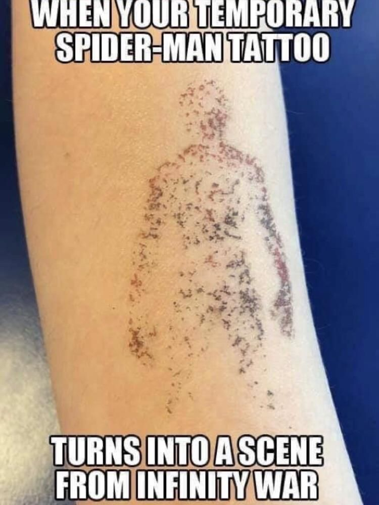 Temporary Spider-man Tattoo