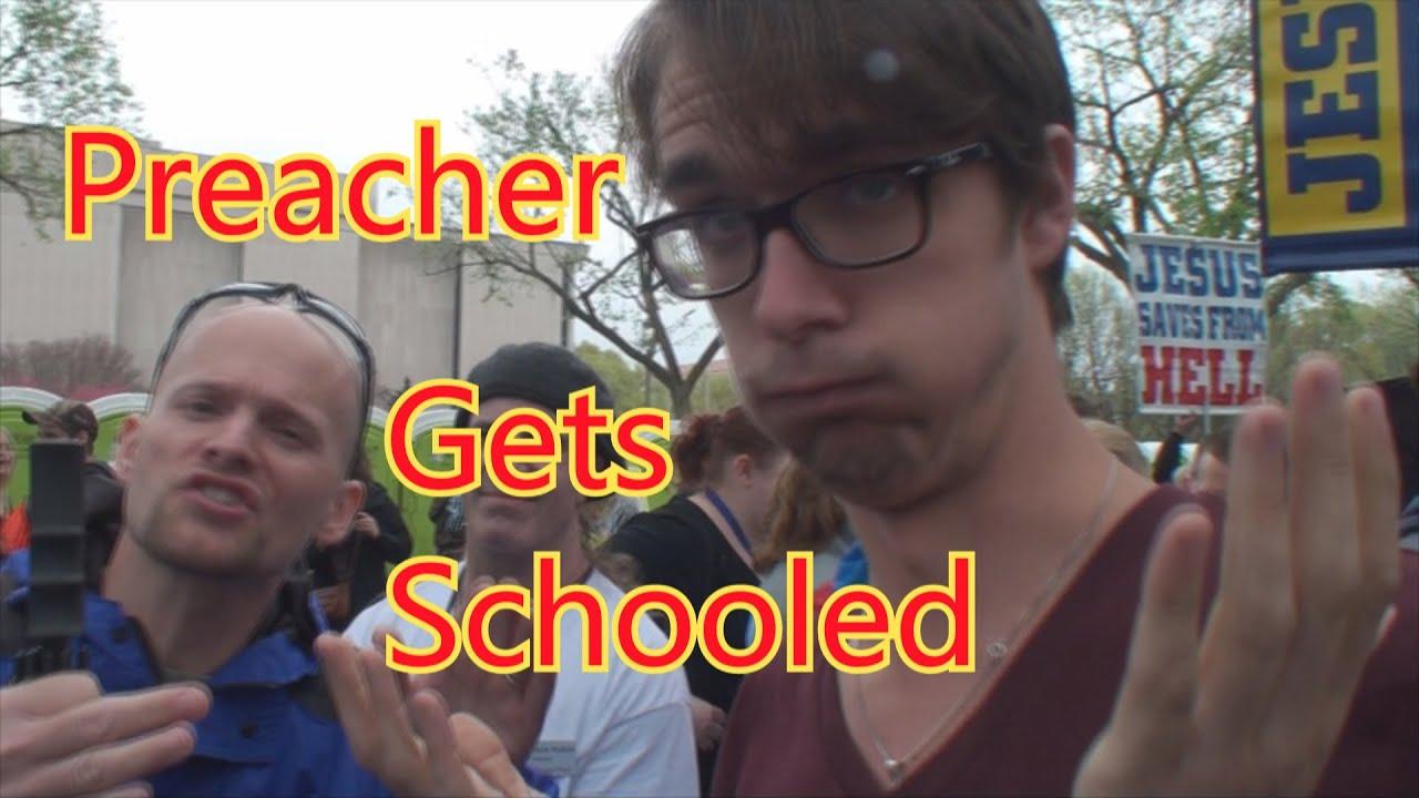 Atheist Schools Preacher in Reality