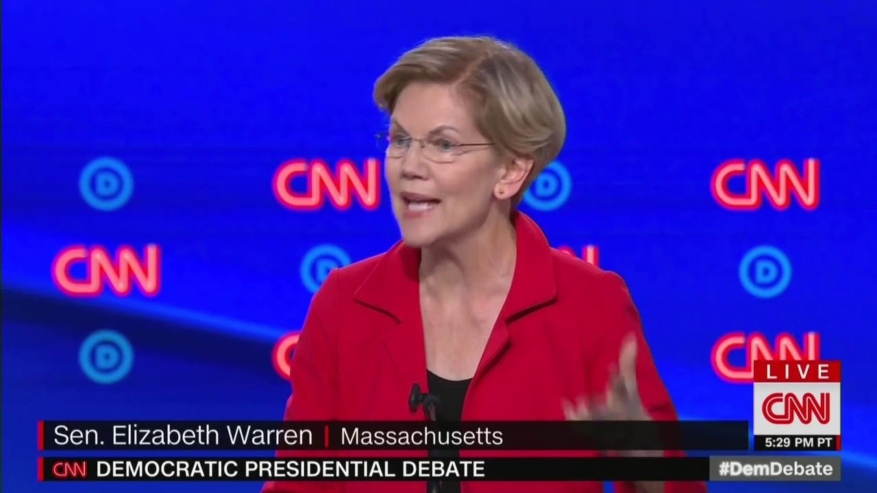 'This isn't funny' Warren scolds crowd
