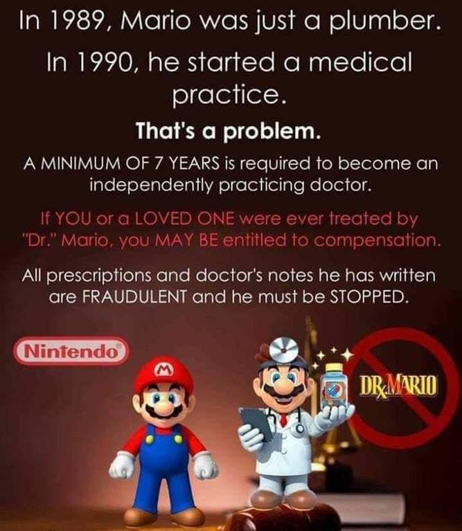 Mario the medical fraud