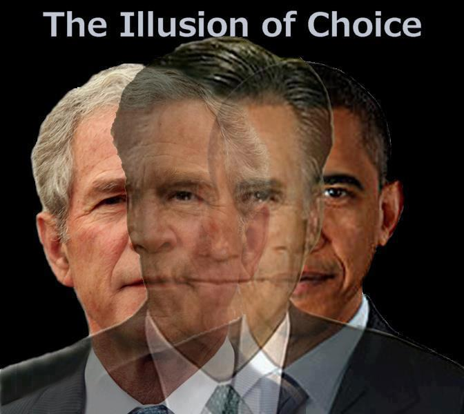 Choice Meet the New Boss, Same as the Old Boss politcs mitt romney Humor George W Bush election 2012 barack obama