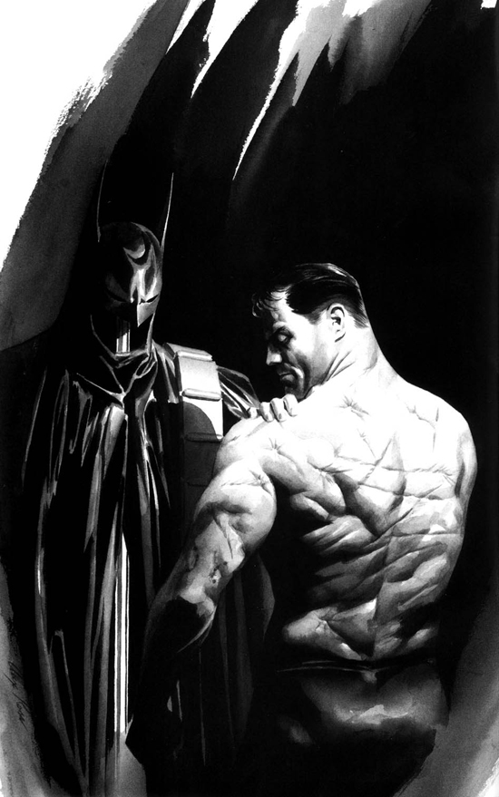 Batman and Alfred by Alex Ross