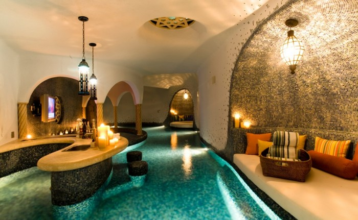 Indoor hallway pool