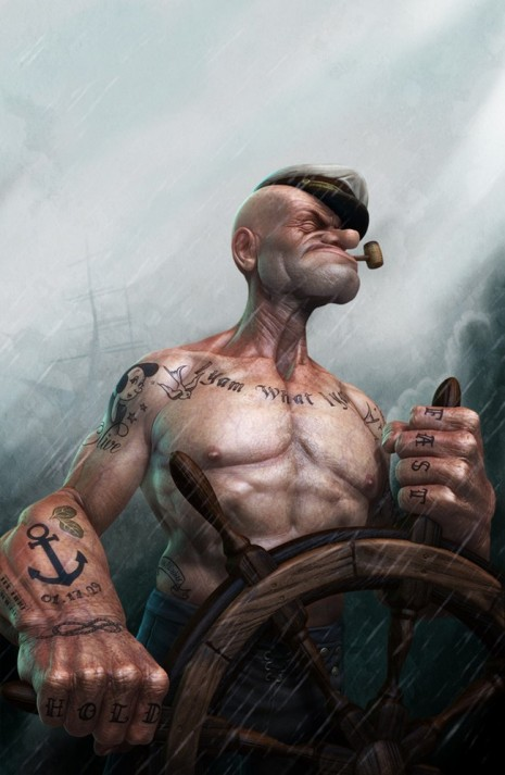 Popeye1 Gritty Popeye   Coming to Theatres in 2015 popeye nostalgia 3D render