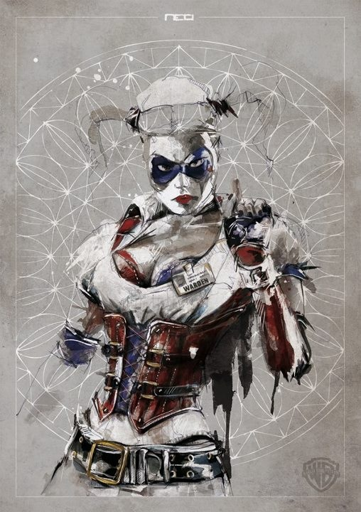 Harley joker Harley Quinn DC Comics batman Art