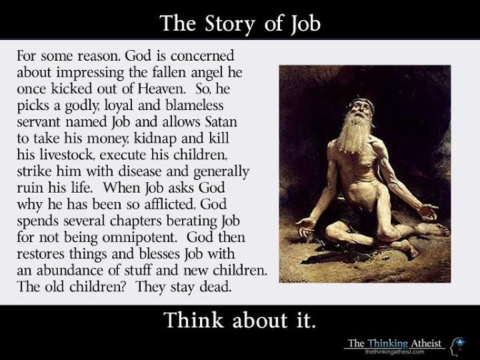 Job Killing children in the bible: no biggie. The Gish Gallop is for cowards Religion christianity bible atheism