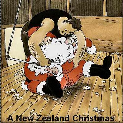 new zealand christmas New Zealand Christmas sheep funny Christmas cartoon