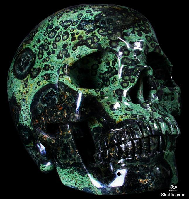 Kambaba jasper skull