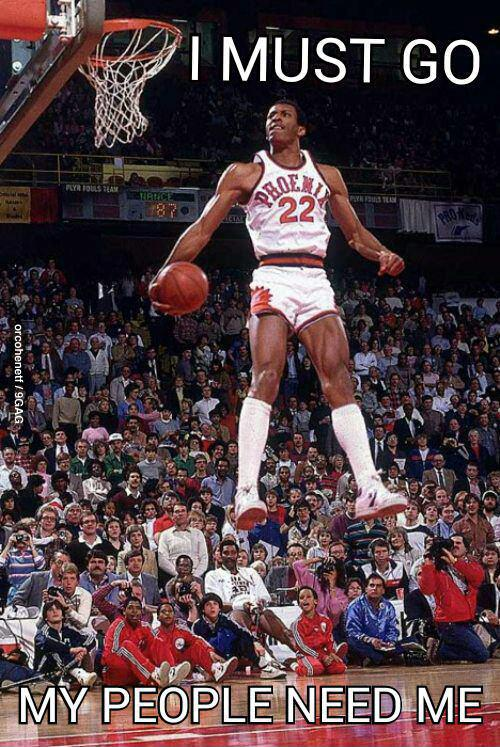 larry nance levitates I must go phoenix suns NBA larry nance Humor dunk basketball air